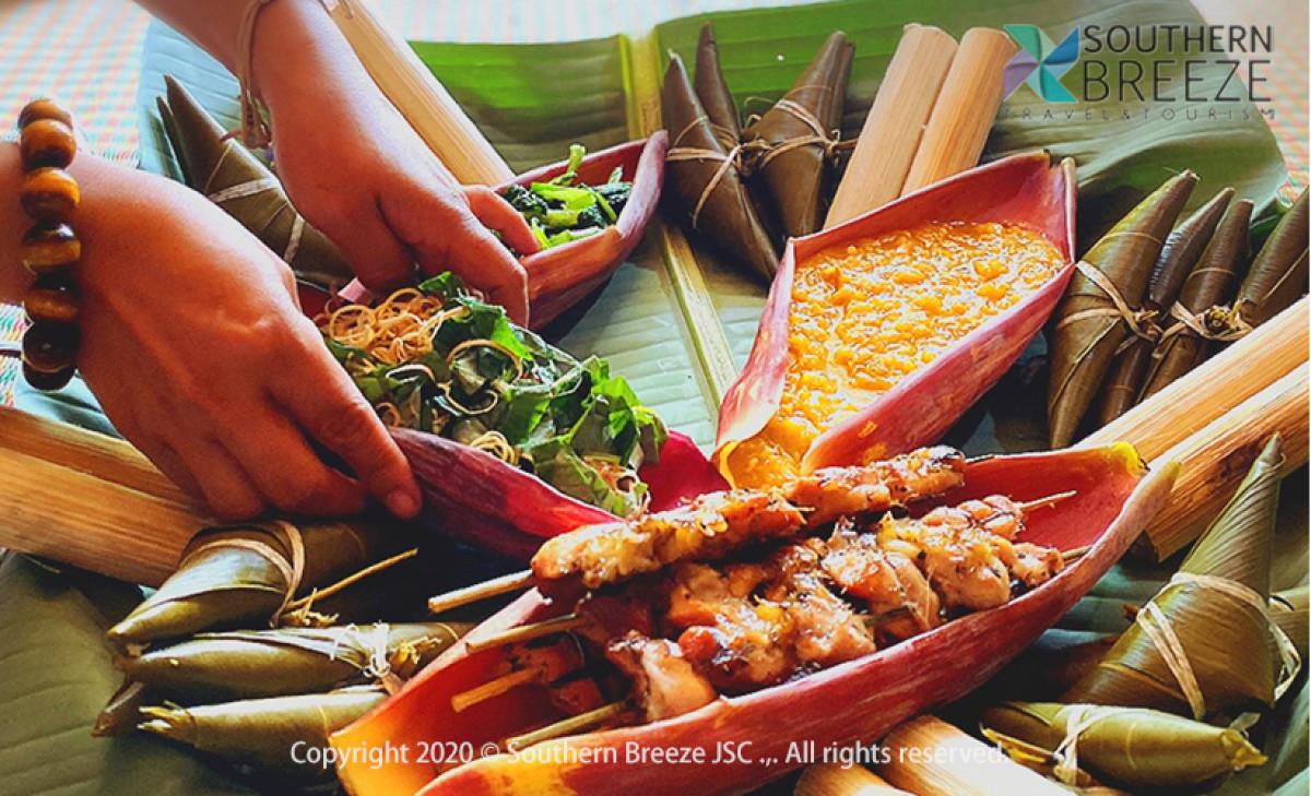 一日:ベトナム中部少数民族カトゥー族との交流ツアー+夜のホイアン散策(昼食&ホイアン名物料理の夕食付)