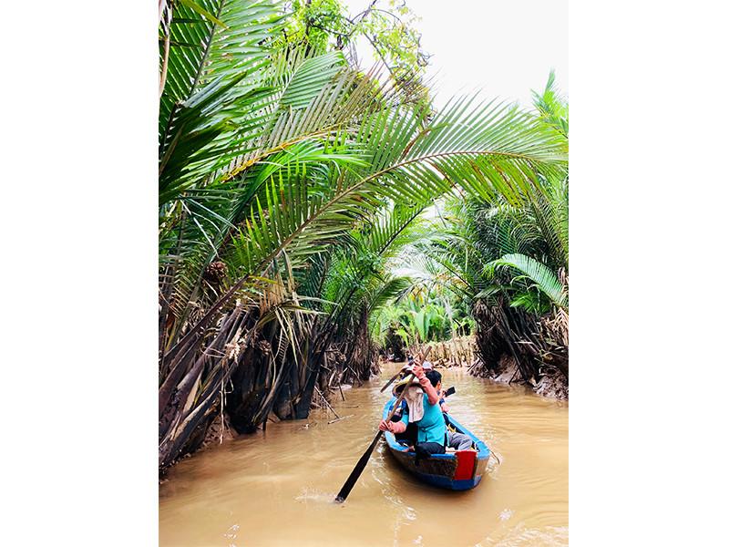 の画像 【オンラインツアー】お家でベトナム旅行~メコン川クルーズ~手漕ぎボート・メコン郷土料理の象耳魚の紹介