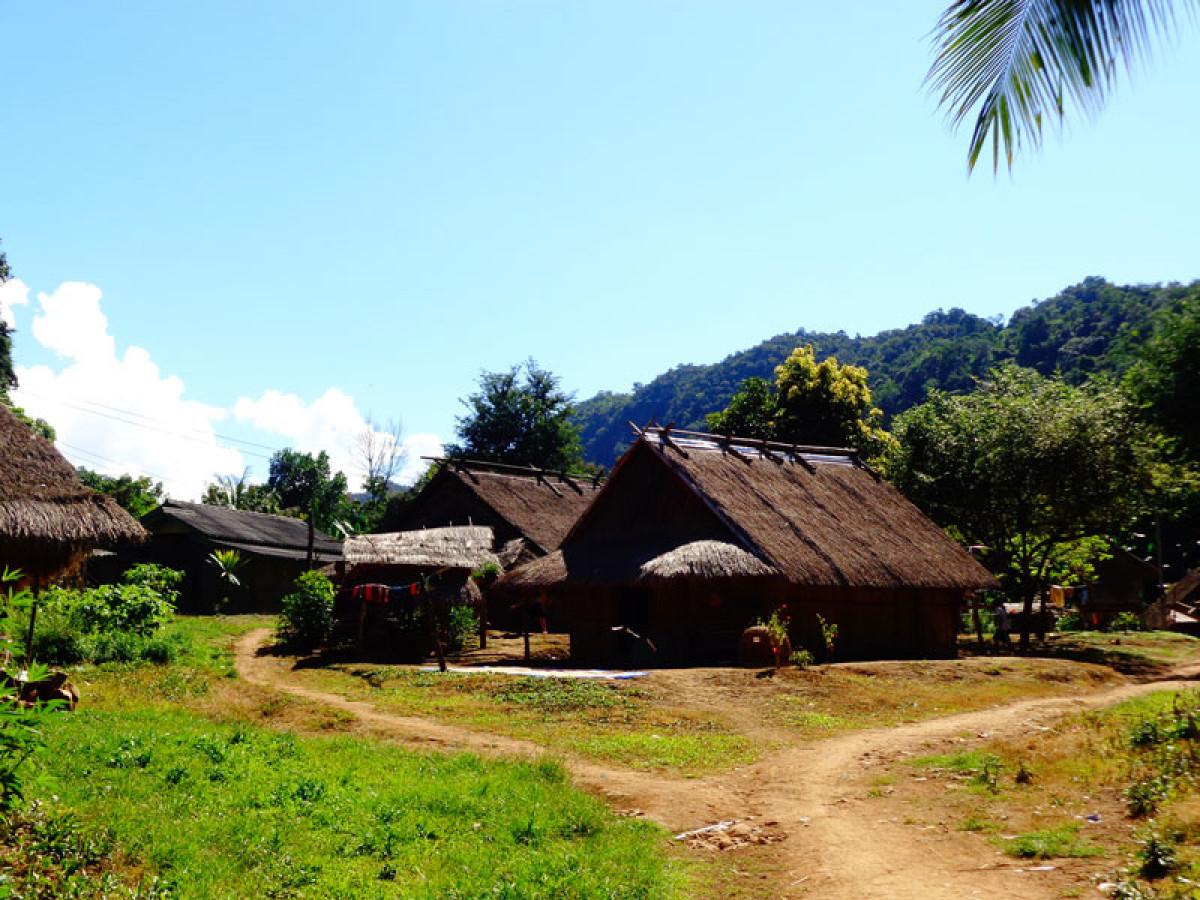 半日:クアンシー滝&モン族の村訪問※観光地の入場料は含まれません。